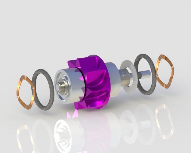 W&H TA-98 Turbine 400 Series WG-98 turbine for dentists from W&H handpiece repair expert True Spin Dental